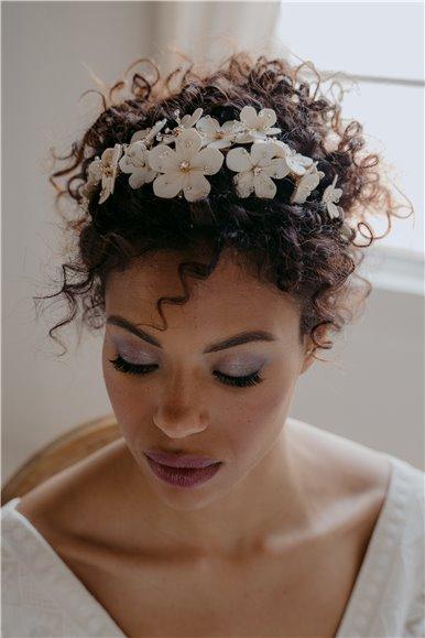 Faux Leather Bridal Tiara
