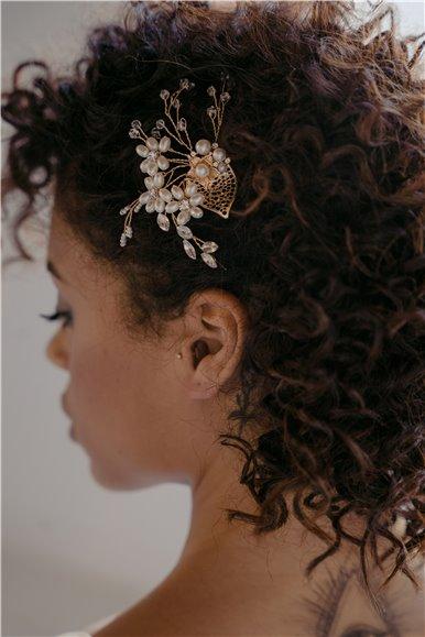 Forcina da sposa con cristalli e perline