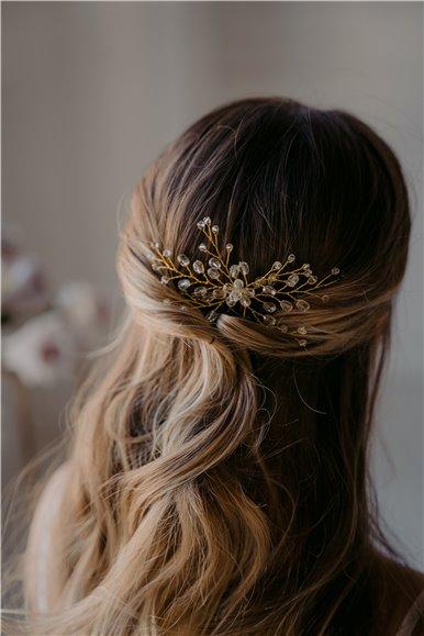 Rhinestones pearls bridal pin